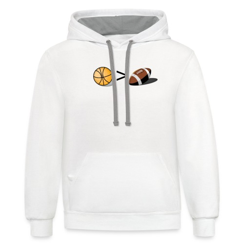 Basketball Greater Than Football (color ) - Contrast Hoodie