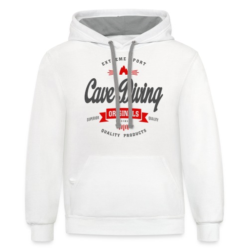 Cave Diving Extreme Sport T-shirt - Contrast Hoodie