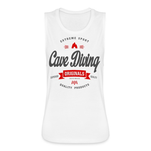 Cave Diving Extreme Sport T-shirt - Women's Flowy Muscle Tank by Bella