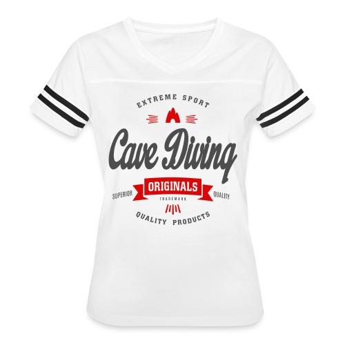 Cave Diving Extreme Sport T-shirt - Women's Vintage Sport T-Shirt