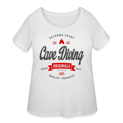 Cave Diving Extreme Sport T-shirt - Women's Curvy T-Shirt