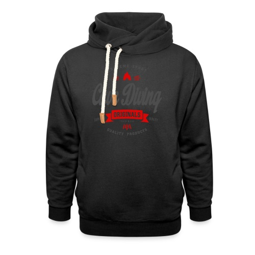 Cave Diving Extreme Sport T-shirt - Shawl Collar Hoodie