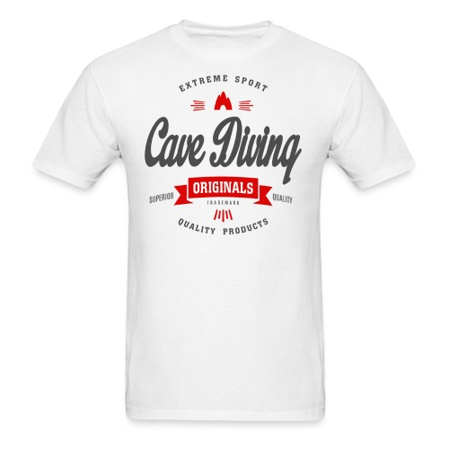 Cave Diving Extreme Sport T-shirt - Men's T-Shirt