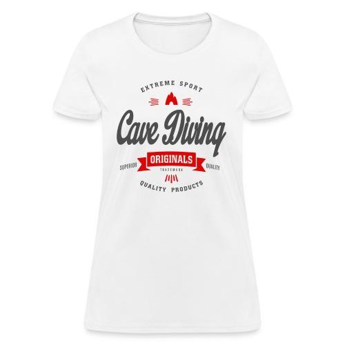 Cave Diving Extreme Sport T-shirt - Women's T-Shirt
