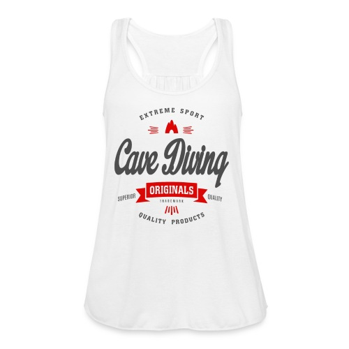 Cave Diving Extreme Sport T-shirt - Women's Flowy Tank Top by Bella