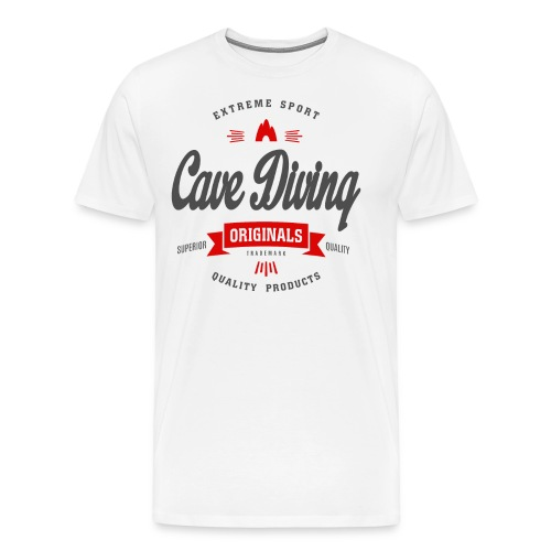 Cave Diving Extreme Sport T-shirt - Men's Premium T-Shirt