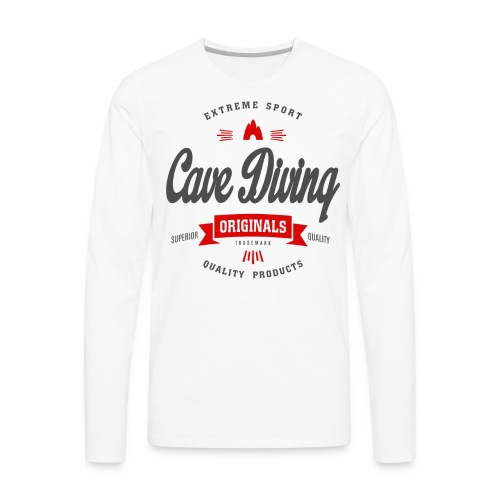 Cave Diving Extreme Sport T-shirt - Men's Premium Long Sleeve T-Shirt
