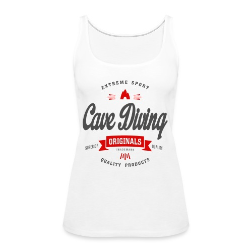 Cave Diving Extreme Sport T-shirt - Women's Premium Tank Top