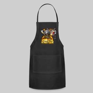 Vikings of Bjornstad/Real Vikings Don't Wear Horns - Black T-Shirt - Adjustable Apron