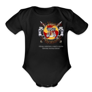 Real Vikings Don't Wear Horns - Black T-Shirt - Short Sleeve Baby Bodysuit