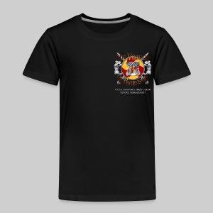 Vikings of Bjornstad/Real Vikings Don't Wear Horns - Black T-Shirt - Toddler Premium T-Shirt