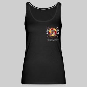 Vikings of Bjornstad/Real Vikings Don't Wear Horns - Black T-Shirt - Women's Premium Tank Top