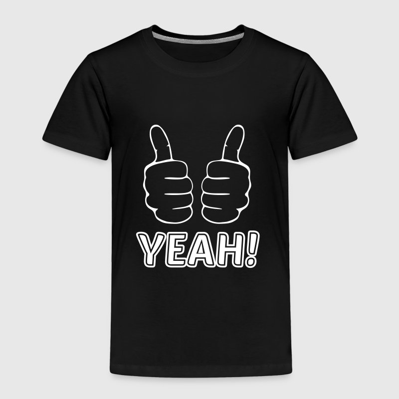 both thumbs up finger hand like yeah cheer triumph Baby & Toddler Shirts - Toddler Premium T-Shirt