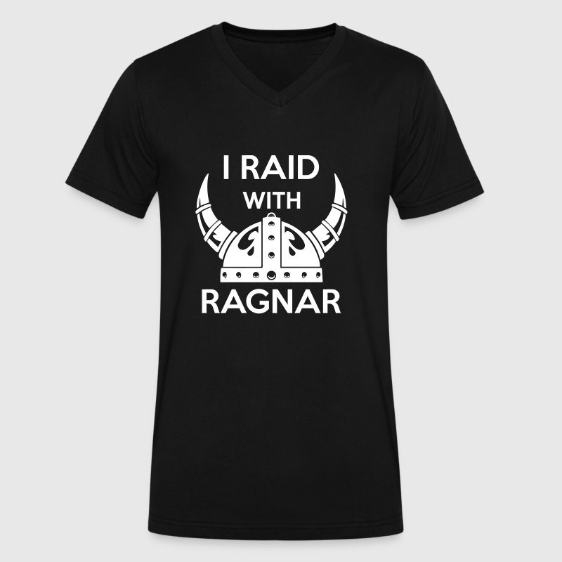 Viking - I raid with ragnar T-Shirts - Men's V-Neck T-Shirt by Canvas