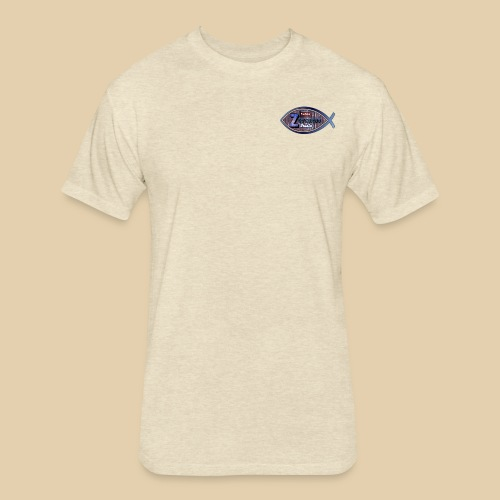 Zevcorod Studio Logo blue Youtube - Fitted Cotton/Poly T-Shirt by Next Level