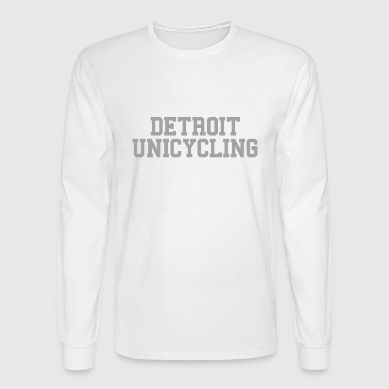 Detroit Unicycling Long Sleeve Shirts - Men's Long Sleeve T-Shirt
