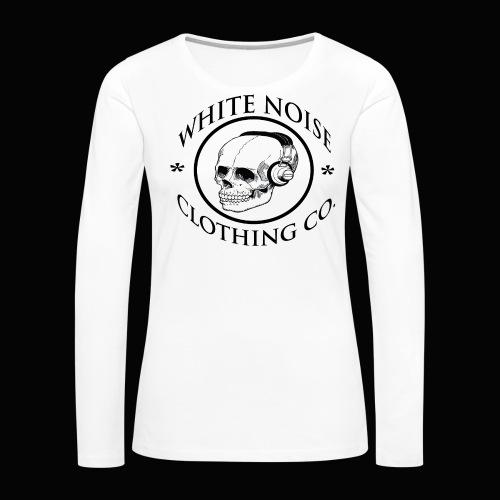 White Noise T-Shirt - Women's Premium Long Sleeve T-Shirt