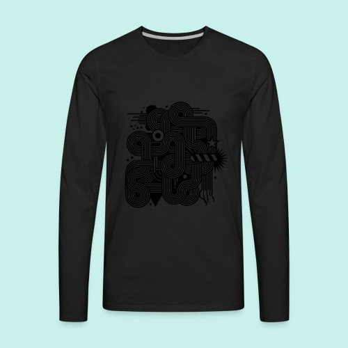 mens graphic - Men's Premium Long Sleeve T-Shirt