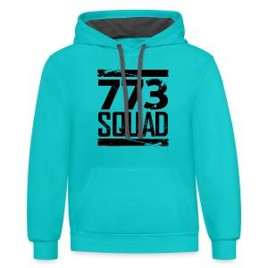 773 Squad Women's Premium T-Shirt (Green) - Contrast Hoodie