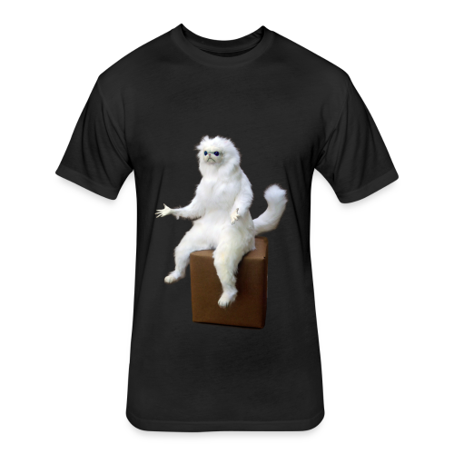 Persian Cat Meme Tee - Fitted Cotton/Poly T-Shirt by Next Level