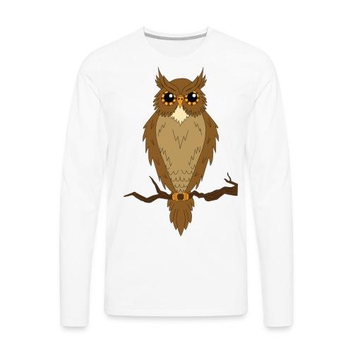 Owl Shirt - Men's Premium Long Sleeve T-Shirt