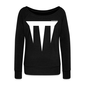 Wulfgard Inquisition Men's T-Shirt - White on Black - Women's Wideneck Sweatshirt