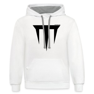 Wulfgard Inquisition Men's T-Shirt - Black on White - Contrast Hoodie