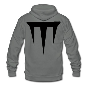Wulfgard Inquisition Men's T-Shirt - Black on White - Unisex Fleece Zip Hoodie by American Apparel