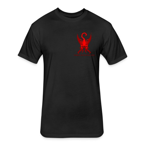 Saber-Scorpion's Lair Logo (Smaller) Men's T-Shirt - Fitted Cotton/Poly T-Shirt by Next Level