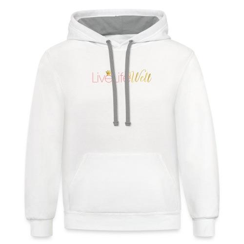 LiveLifeWell Classic Logo Tee - Contrast Hoodie