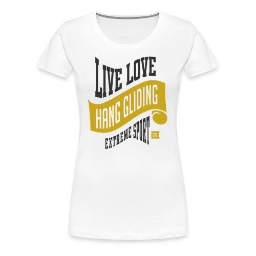 Hang Gliding Extreme Sport T-shirt - Women's Premium T-Shirt