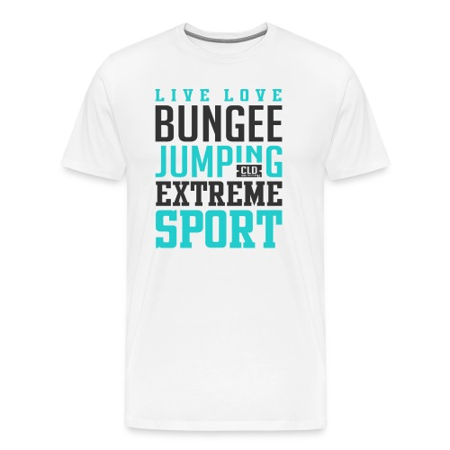 Bungee Jumping Extreme Sport T-shirt - Men's Premium T-Shirt