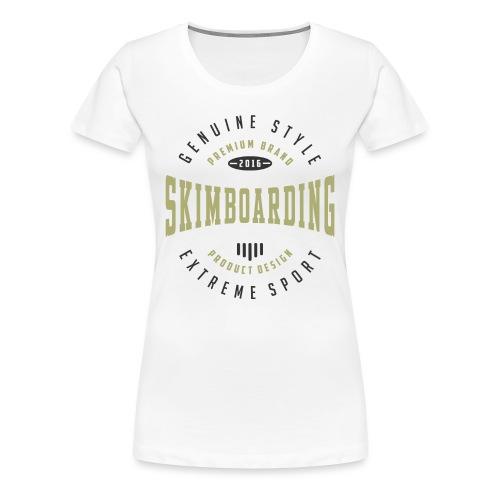 Skimboarding Extreme Sport T-shirt - Women's Premium T-Shirt