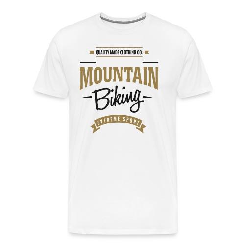 Mountain Biking Extreme Sport T-shirt - Men's Premium T-Shirt