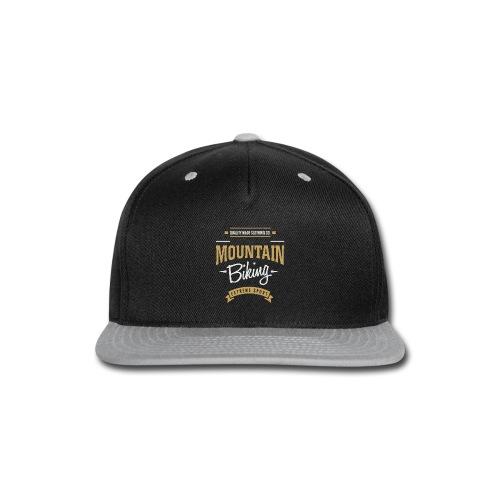 Mountain Biking Dark T-shirt - Snap-back Baseball Cap