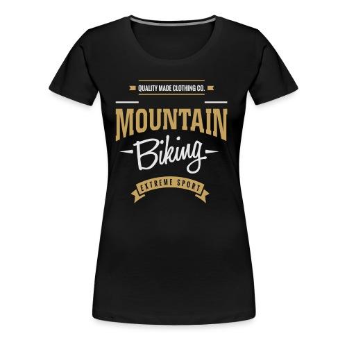 Mountain Biking Dark T-shirt - Women's Premium T-Shirt