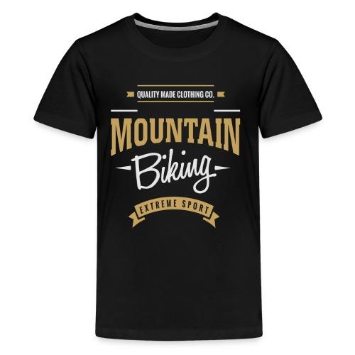 Mountain Biking Dark T-shirt - Kids' Premium T-Shirt