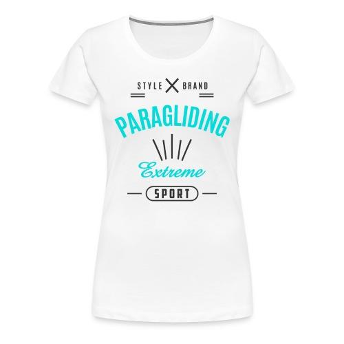 Paragliding Extreme Sport T-shirt - Women's Premium T-Shirt