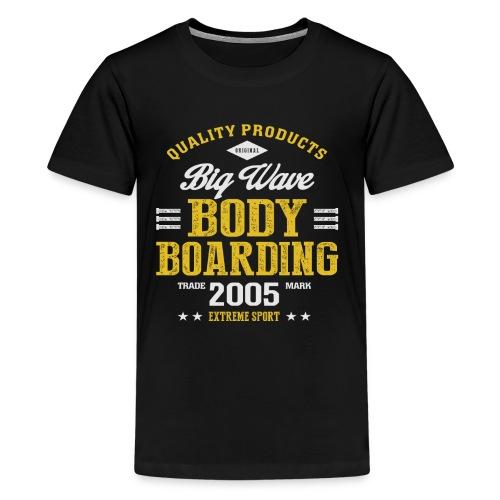 Bodyboarding Dark T-shirt - Kids' Premium T-Shirt