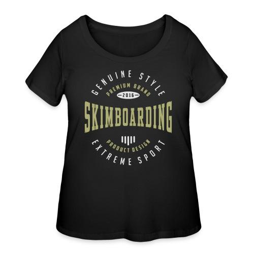 Skimboarding Dark T-shirt - Women's Curvy T-Shirt
