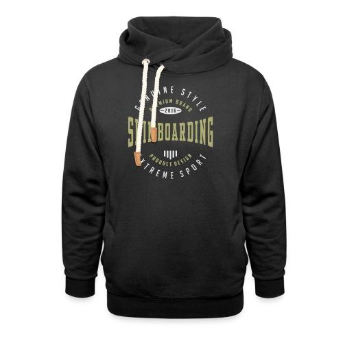 Skimboarding Dark T-shirt - Shawl Collar Hoodie