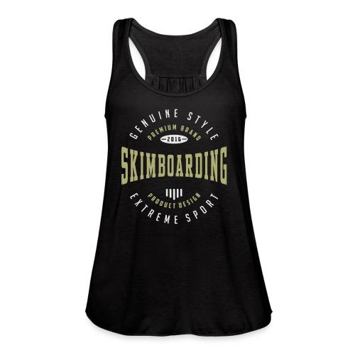 Skimboarding Dark T-shirt - Women's Flowy Tank Top by Bella
