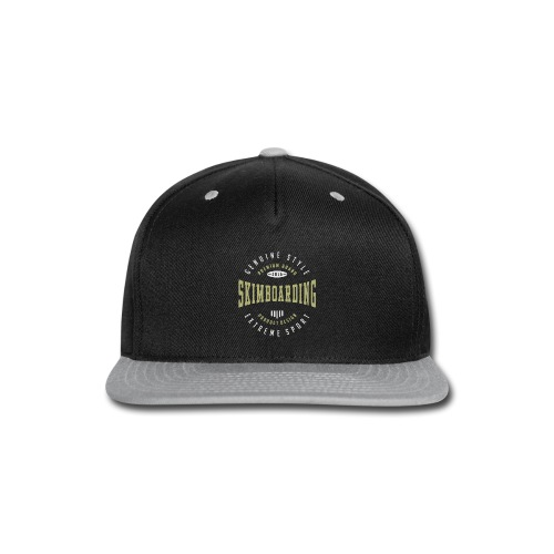Skimboarding Dark T-shirt - Snap-back Baseball Cap