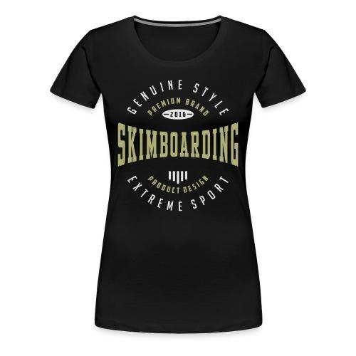 Skimboarding Dark T-shirt - Women's Premium T-Shirt