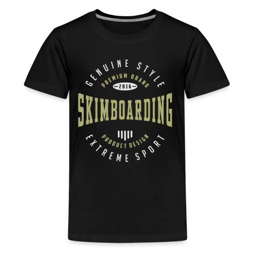 Skimboarding Dark T-shirt - Kids' Premium T-Shirt
