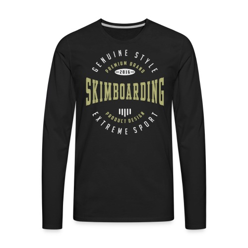 Skimboarding Dark T-shirt - Men's Premium Long Sleeve T-Shirt