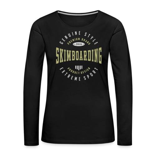 Skimboarding Dark T-shirt - Women's Premium Long Sleeve T-Shirt