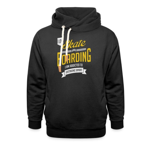 I Love Skateboarding Dark T-shirt - Shawl Collar Hoodie