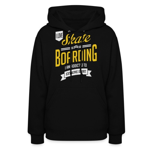I Love Skateboarding Dark T-shirt - Women's Hoodie
