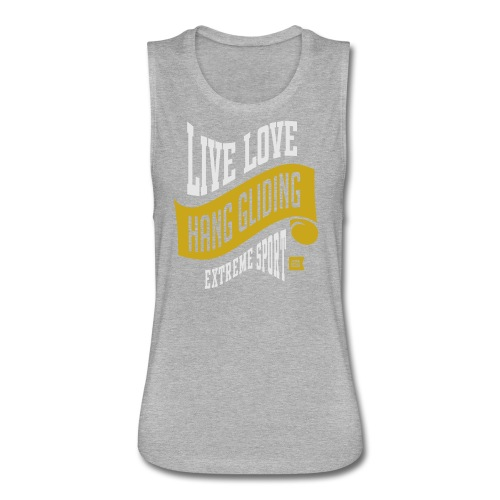 Live Love Hang Gliding Dark T-shirt - Women's Flowy Muscle Tank by Bella